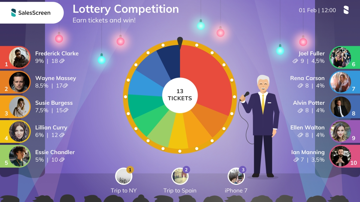 SalesScreen lottery competition